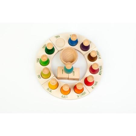 Wooden toys - perpetual calendar